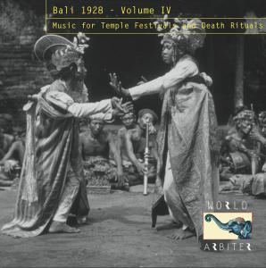 Bali 1928 - Music For Temple Festivals and Death Rituals cd